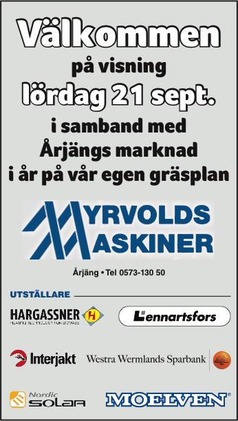 Myrvolds Maskiner2019 marknad